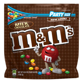 M&M's, Milk Chocolate Candy, Party Size, 42 Oz