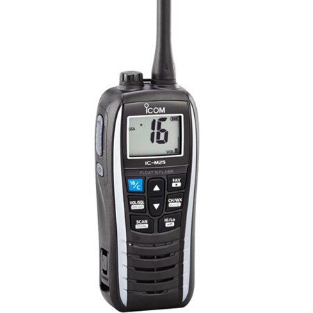Icom M25 5w Floating Vhf In Pearl White Part M25