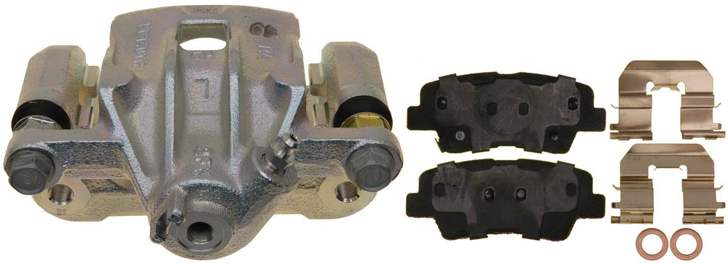 ACDelco 18FR12512 Professional Rear Disc Brake Caliper Assembly without Pads Friction Ready Non-Coated Remanufactured