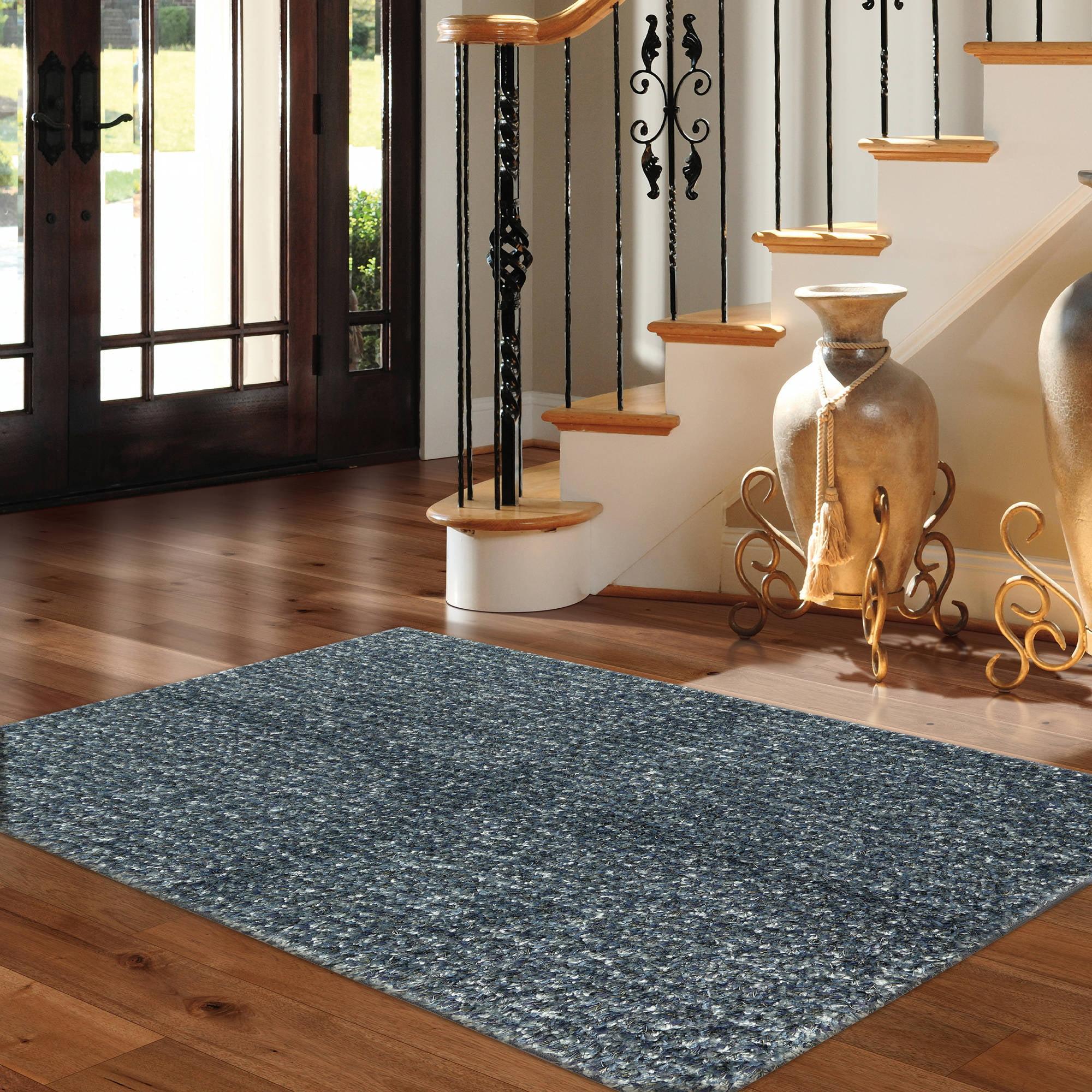 Mohawk Home Eyelash Blue Solid Shag Area Rug Walmart Com
