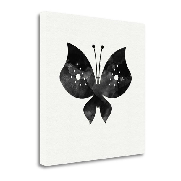 Tangletown Fine Art Black And White Butterfly Ii By Linda Woods Gallery Wrap Canvas Walmart Com Walmart Com