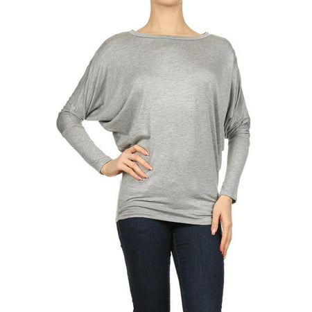 Ivory Flutter Sleeve Top - Women's Trendy Style Dolman Long Sleeves Solid Top