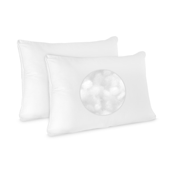 BioPEDIC Low Profile Pillow, 2-Pack