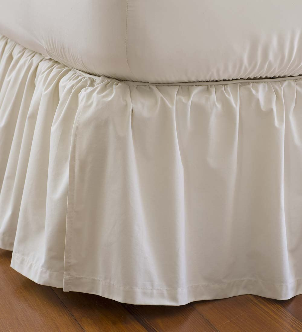 Plow & Hearth Full Size Gathered Detachable Bed Skirt, 14...