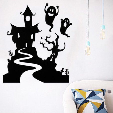 Happy Halloween Mural (Happy Halloween Home Household Room Wall Sticker Mural Decor Decal Removable)