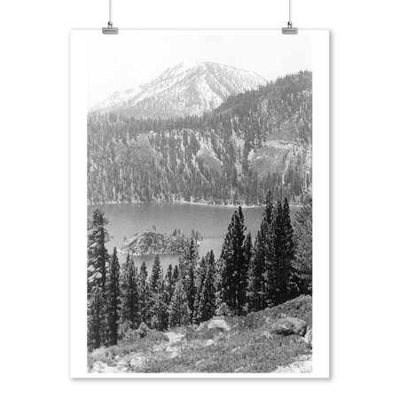 Lake Tahoe, California - View of Emerald Bay (9x12 Art Print, Wall Decor Travel (Emerald Bay Outdoor Art)