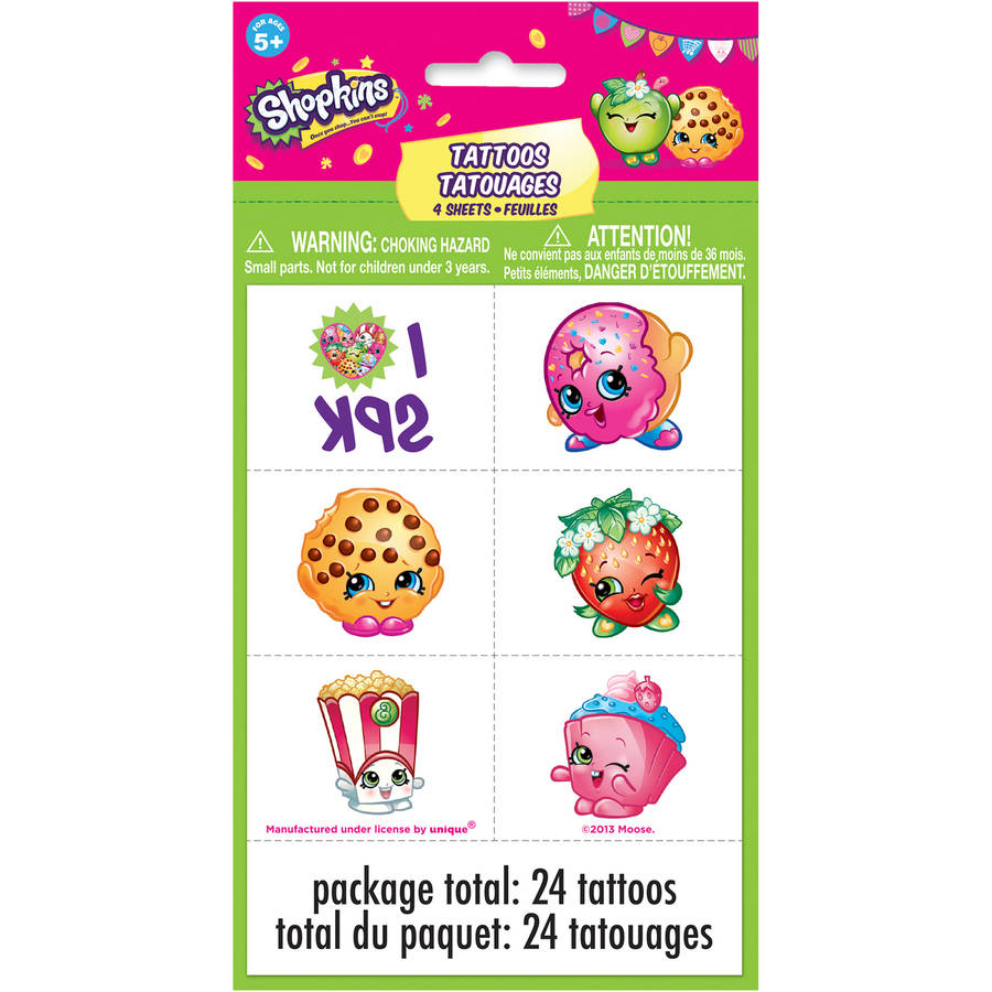 Shopkins Tattoos, 24-Count