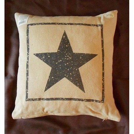 Primitive Black Star Cotton Burlap Decorative Throw Pillow 40 X Mesmerizing Burlap Star Decorative Pillow