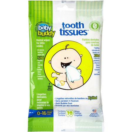 Baby Buddy Tooth Tissues Dental Wipes 30 Sheets Walmart Com
