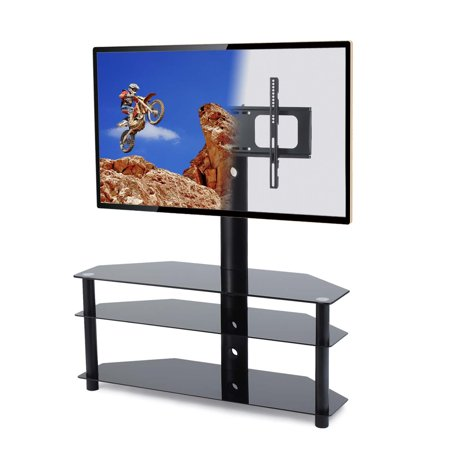 Rfiver Swivel Floor Tv Stand With Mount 3 In 1 Flat Panel