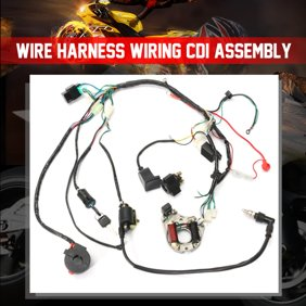 Electrics Wiring Harness Wire Loom ATV QUAD 125 150 200 250cc Stator CDI  Coil - Walmart.com - Walmart.comWalmart.com