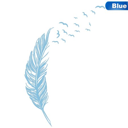Fancyleo 2019 NEW Left Right Flying Feather Wall Stickers Home Decor Home Decoration Wallpaper Wall
