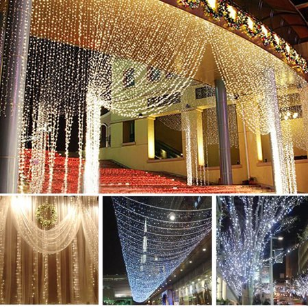 10M 33FT 100 LED 8 Modes LED Fairy String Lights Lamps Indoor Outdoor Decoration For Christmas Holiday Wedding Party Curtain Window 110V Waterproof IP65 - Outdoor Decorations For Christmas