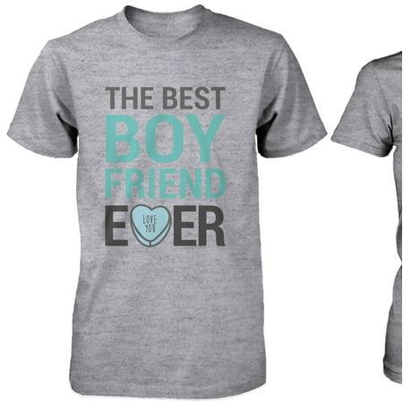 1f873c256 Best Boyfriend Girlfriend Ever Matching Couple Shirts – Grey Cotton T-shirt  - Walmart.com
