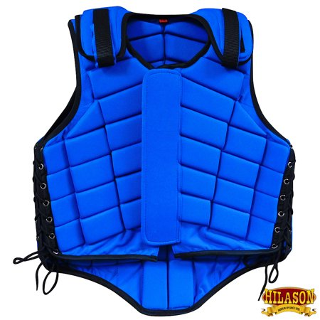 Hilason Adult Safety Equestrian Eventing Protective Protection Vest Blue