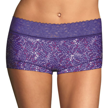 Maidenform Cotton Dream Womens Boyshort With Lace - Best-Seller,