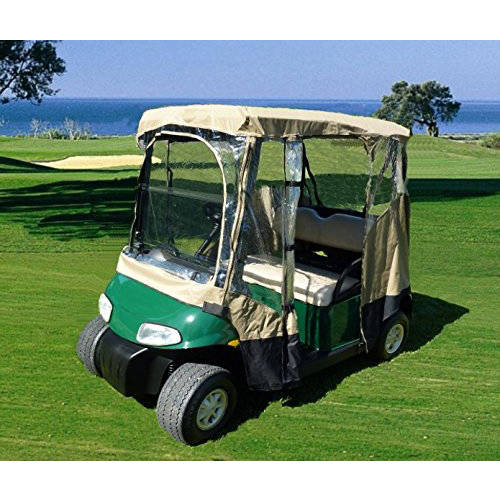 Formosa Covers Black Golf Cart Driving Enclosure 2 Seater Heavy duty, fits E Z GO, Club Car and Yamaha G model... by Formosa Covers
