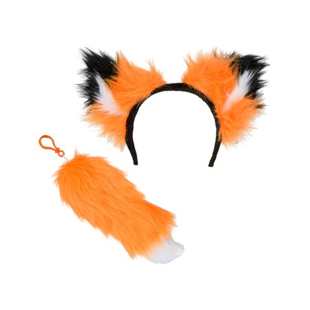 Orange Woodland Fox Ear And Tail Costume Accessory