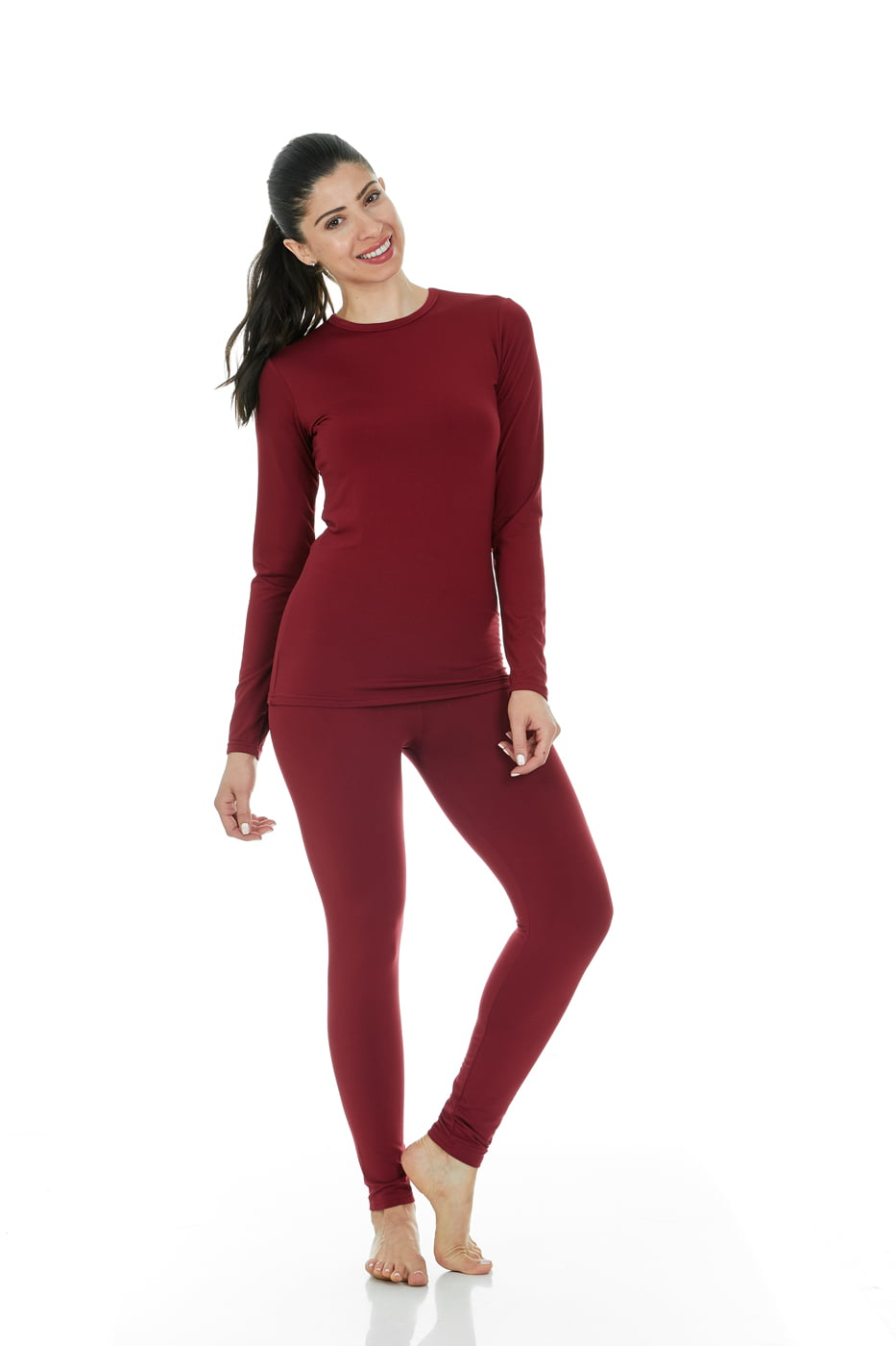 562936f761b8 Thermajane - Thermajane Women's Ultra Soft Thermal Underwear Long Johns Set  With Fleece Lined (X-Small, White) - Walmart.com