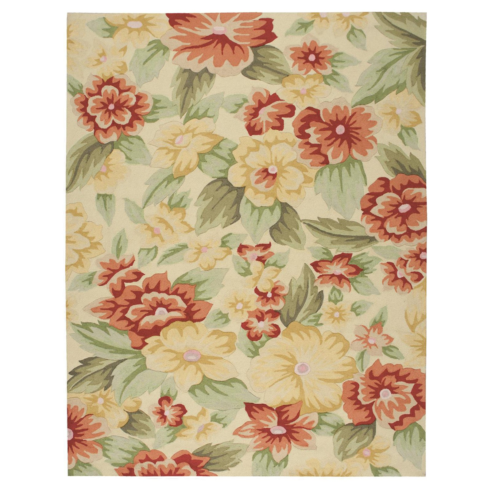 Nourison Fantasy Floral Images Meadowlands Area Rug