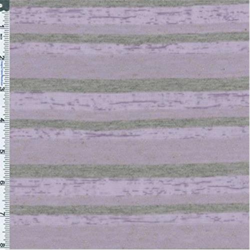 Purple/Gray Linen Blend Jersey Knit, Fabric By the Yard