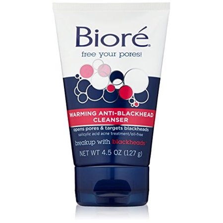 4 Pack - Biore Warming Anti-Blackhead Cleanser 4.5 oz (127 g) Each