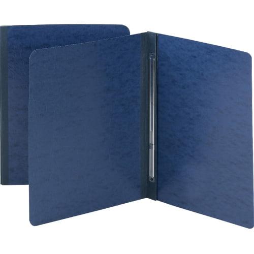 Side Opening Pressboard Report Cover, Prong Fastener, Letter, Dark Blue