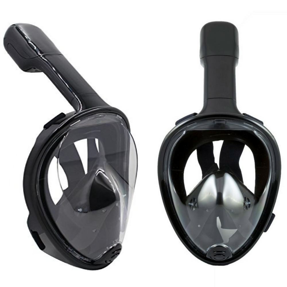 2 Snorkel Mask Set 180 Degree Full Face Snorkel Masks for Adult or Kids with Anti Fog and Anti-Leak Technology Set of 2,... by
