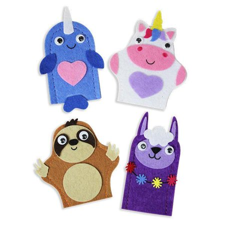 DIY MAGICAL FUN FELT FINGER PUPPETS (BAG OF 12)](Paper Bag Puppets)