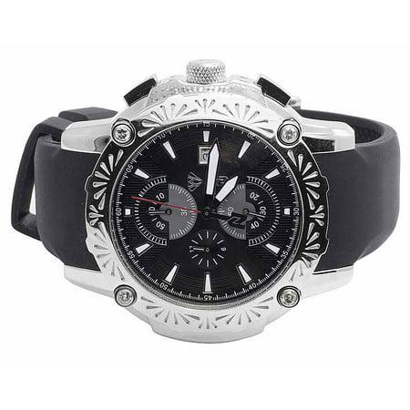 Aqua Master Aqua Master Stainless Steel Nicky Jam El Russo Diamond Watch W Nj105 0 40 Ct