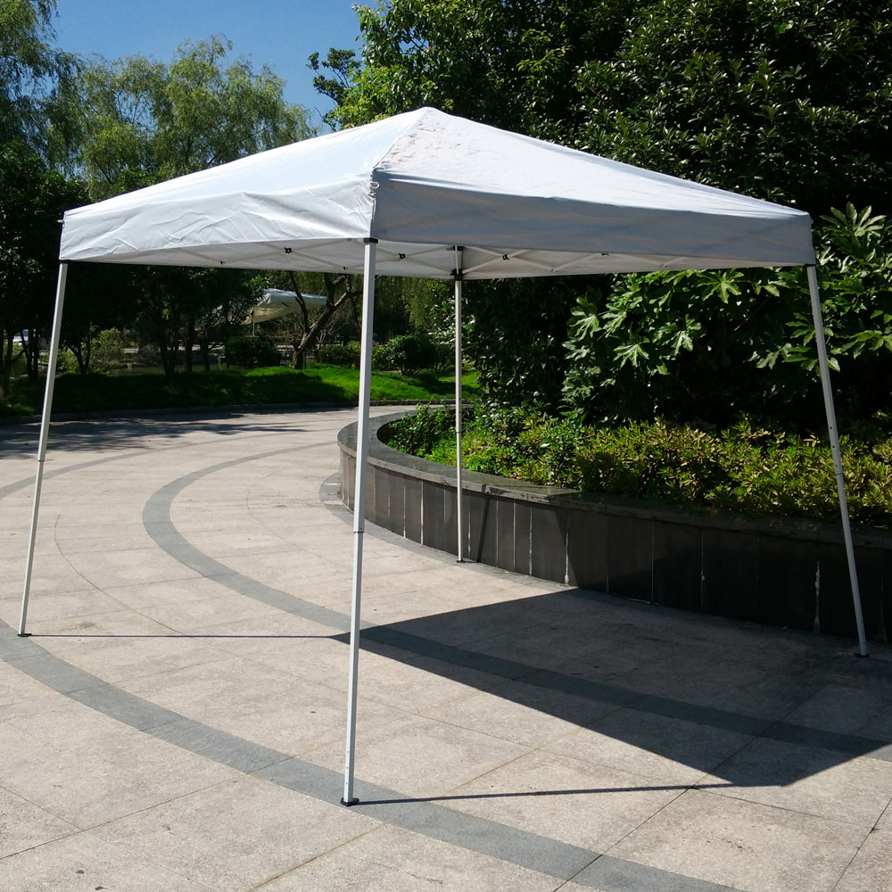 Zimtown 10' X 10' Canopy tent Ez POP UP Wedding Party Commercial Tent Folding Gazebo Beach Canopy Shelter SunShade White by