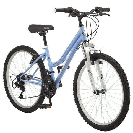 Roadmaster Granite Peak Girls Mountain Bike, 24-inch wheels, Light
