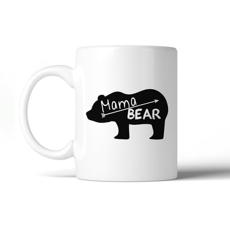 Mama Bear Cute Graphic Coffee Mug Unique Design Gift Idea For Moms