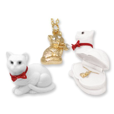 433636 Cat Animal Necklace in Cat Box Case Of 24
