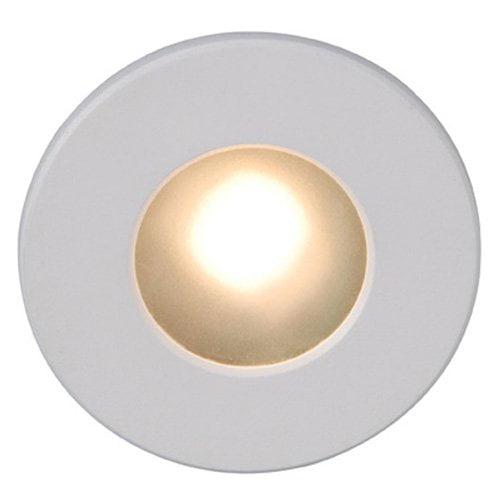 WAC Lighting LED Step Light Circular Face white 3000K White