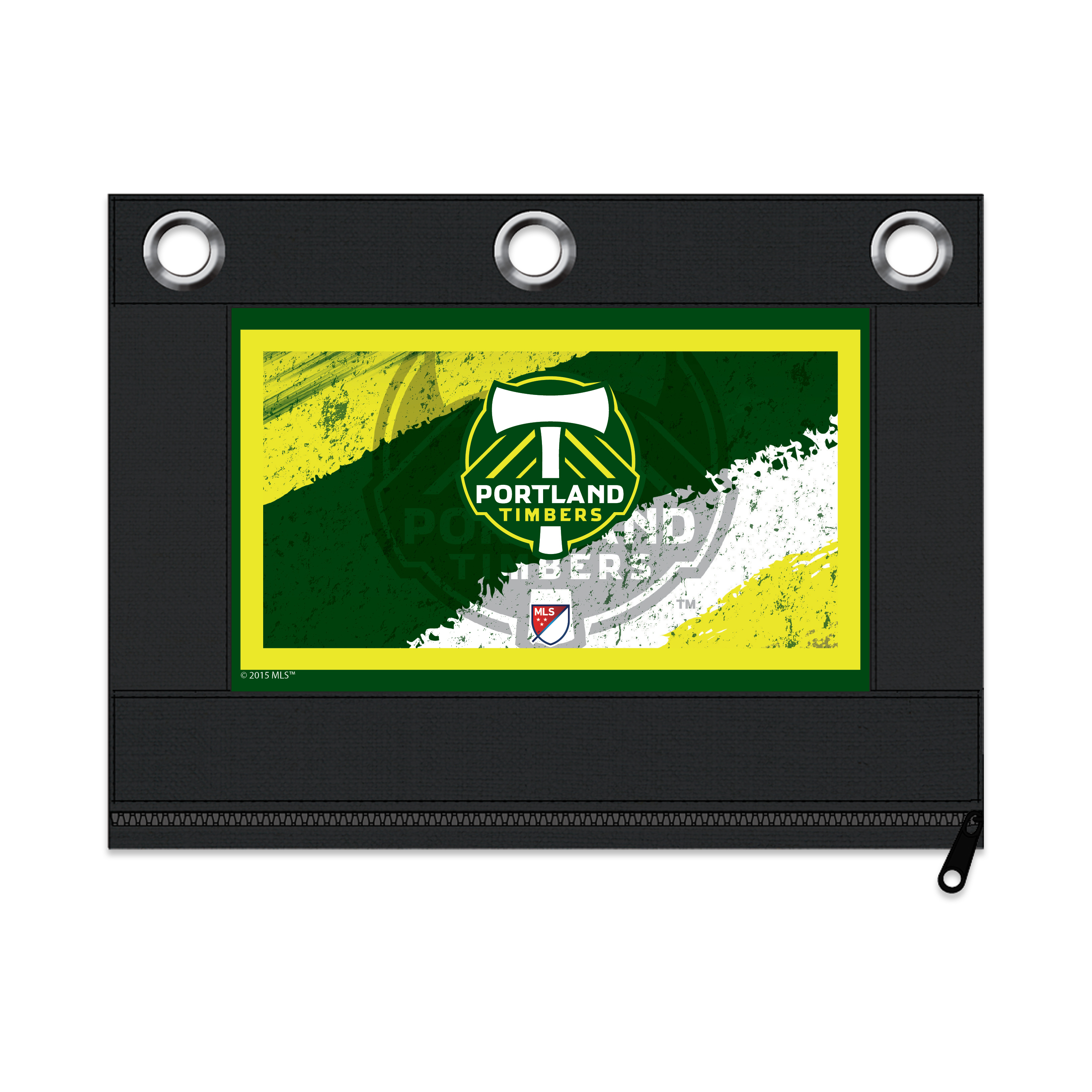 MLS Portland Timbers Zippered Pencil Pouch with Grommets