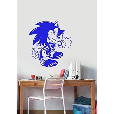Super Sonic The Hedgehog Wall Decal Vinyl Sticker Cartoon Art Download Free Architecture Designs Scobabritishbridgeorg