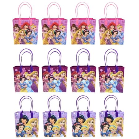 Disney Princess 12 Authentic Licensed Party Favor Reusable Medium Goodie Gift Bags