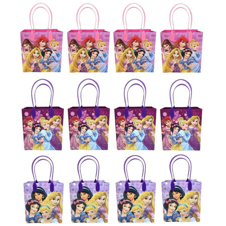 Disney Princess 12 Authentic Licensed Party Favor Reusable Medium Goodie Gift Bags - Princess Tiara Favors