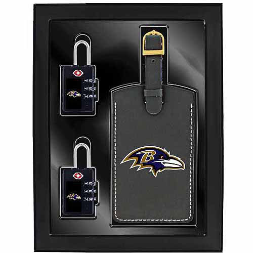 Aminco 3-Piece Luggage Security Gift Set, Ravens