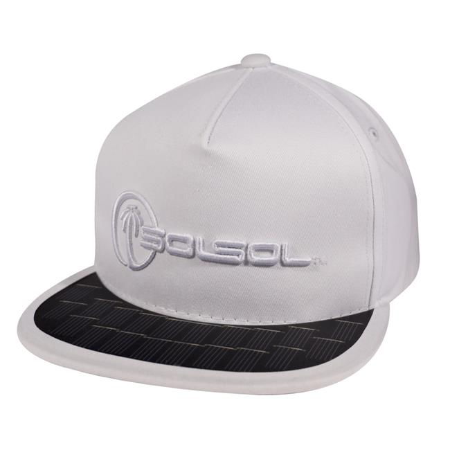 SOLSOL SS101 Poweraid Solar Hat Collection - White