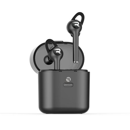 8868edf14fc Raycon E60 True Wireless Earbuds Noise Cancelling In-Ear Bluetooth  Headphones with Charging Case - Black - Walmart.com