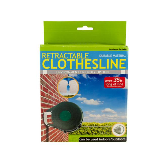 Bulk Buys OF439-3 Indoor Outdoor Retractable Clothesline, 3 Piece