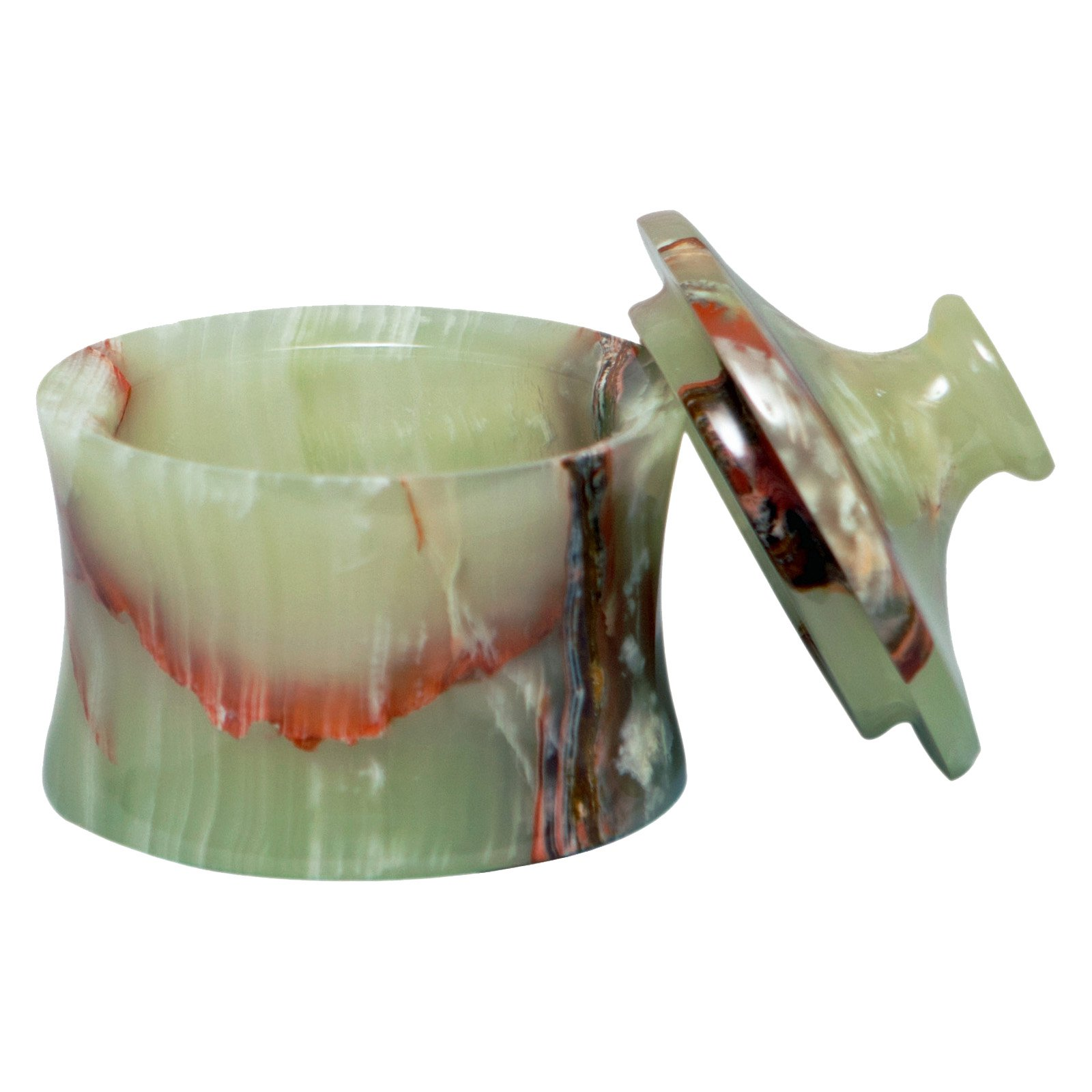 Vinca Canister - Whirl Green Marble