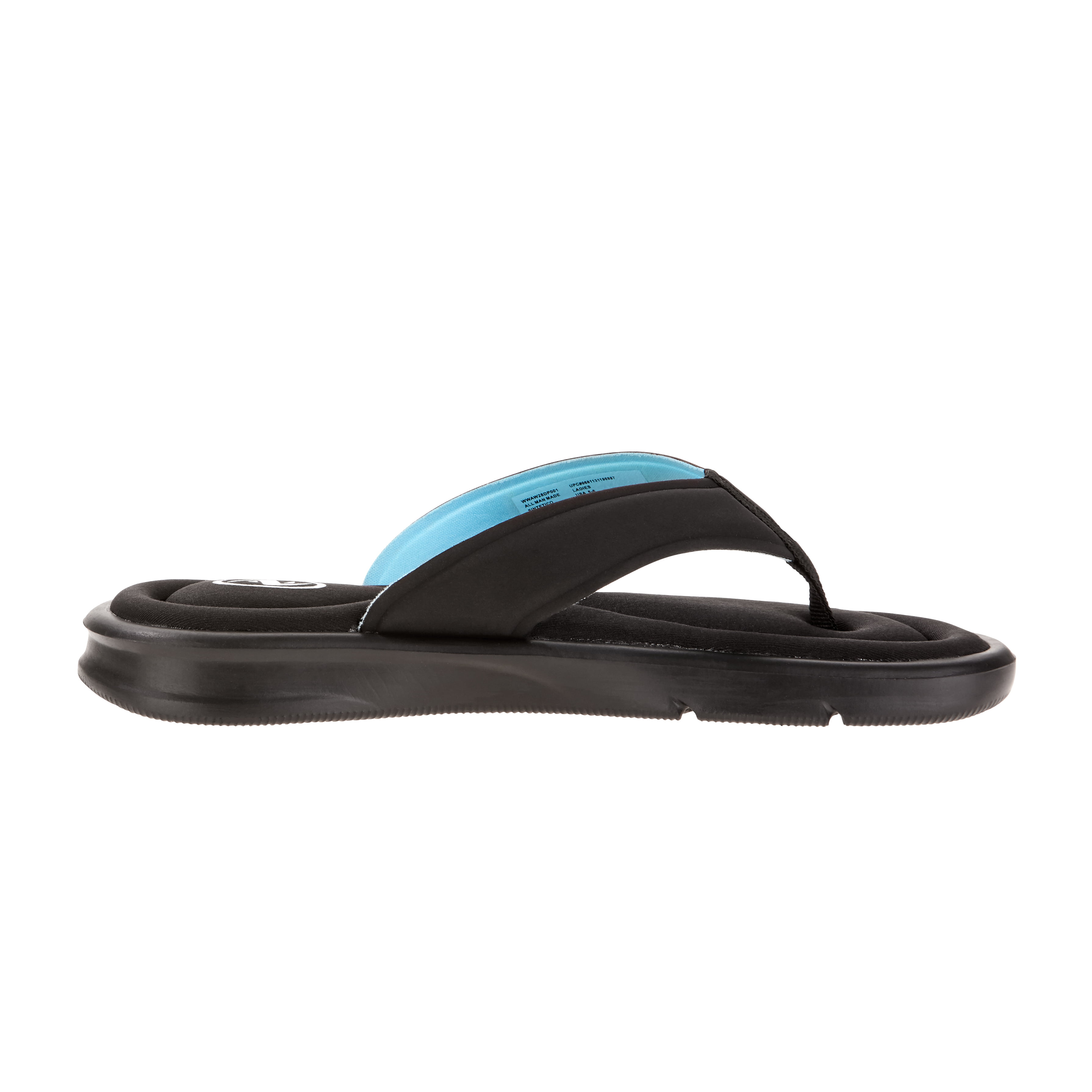 Athletic Works Women/'s Thong Sandal Flip Flop Size 11//12 Gray White Green NEW