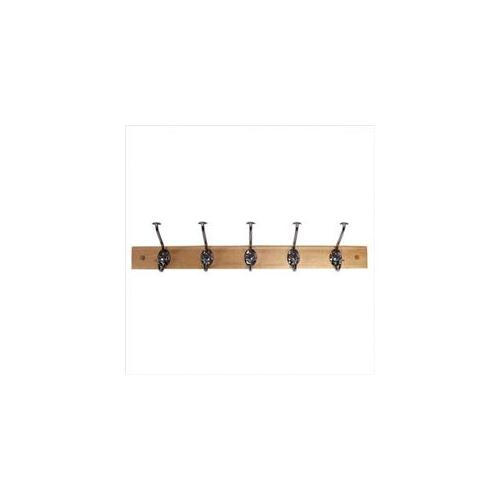 Spectrum 79270CAT Stratford Wood Rack Maple with 5 Hat and Coat Chrome Hooks