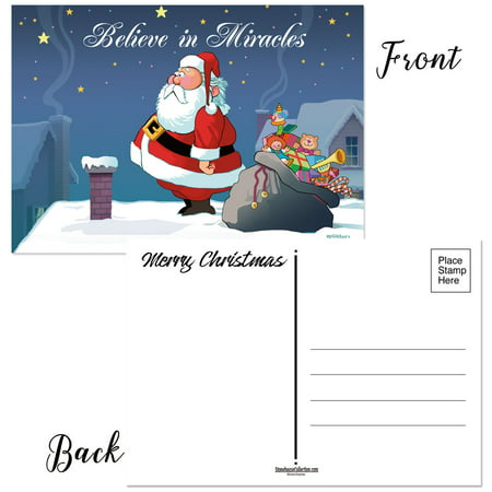 - Funny Christmas Postcards - 50 Holiday Postcards - Believe in Miracles