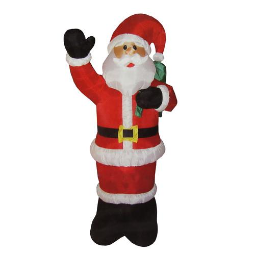 Northlight Seasonal Animated Inflatable Lighted Standing Santa Claus Christmas Yard Art Decoration