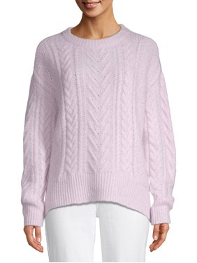 Time and Tru Pointelle Pullover Women's