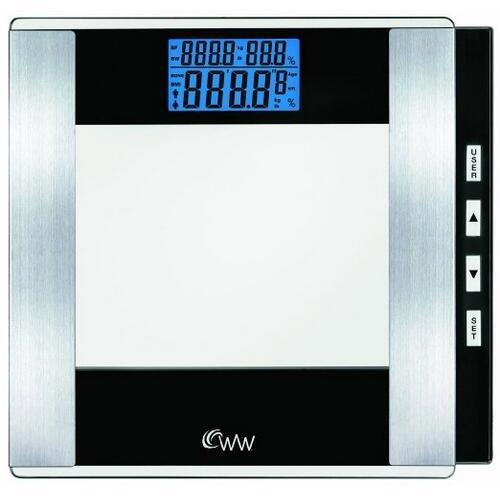 Conair WW52Y Weight Watchers Glass Body Analysis Scale - 400 lb / 180 kg Maximum Weight Capacity - Tempered Glass, Glass